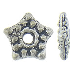 Zinc Alloy Spacer Beads, Star, antique silver color plated, nickel, lead & cadmium free, 5.30x5x1.20mm, Hole:Approx 1.2mm, Approx 2500PCs/KG, Sold By KG