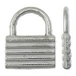 Sinkkiseos Lock riipukset, Lukko, antiikki hopea päällystetty, nikkeli, lyijy ja kadmium vapaa, 12x15x2mm, Reikä:N. 7x5.5mm, N. 625PC/KG, Myymät KG