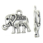 Zinc Alloy Pendant Rhinestone Setting Elephant antique silver color plated nickel lead   cadmium free 17x14.50x2.50mm Hole:Approx 1.8mm Inner Diameter:Approx 1.2mm Approx 769PCs/KG