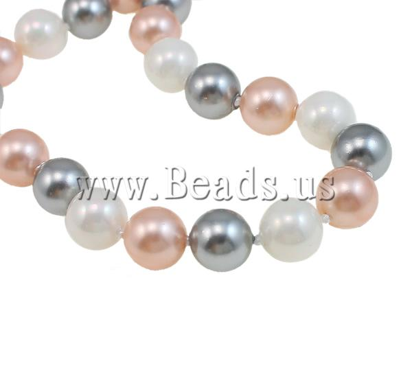 Buy South Sea Shell Necklace Round 10mm Sold Per Approx 32 Inch Strand