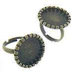 Brass Bezel Ring Base, antique bronze color plated, nickel, lead & cadmium free, 20x20x2mm, Inner Diameter:Approx 17x17, 17mm, Size:6.5, 200PCs/Bag, Sold By Bag
