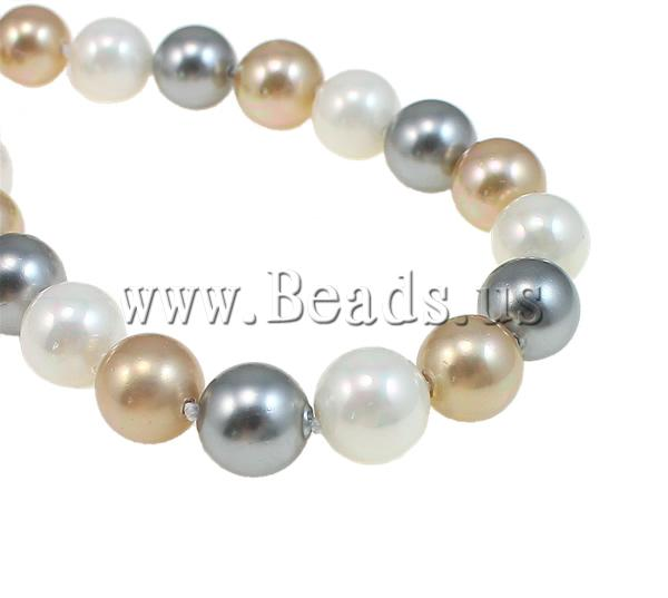 South Sea Shell Necklace Round 10mm Sold Per 32 Inch Strand