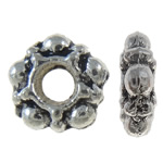 Zinc Alloy Spacer Bead, Flower, antique silver color plated, nickel, lead & cadmium free, 5.50x5.50x2mm, Hole:Approx 2mm, approx 6660PCs/KG, Sold by KG