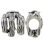 Zinc Alloy European Beads, antique silver color plated, without troll & large hole, nickel, lead & cadmium free, 11x13.50x8mm, Hole:Approx 6mm, 10PCs/Bag, Sold by Bag