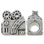 Zinc Alloy European Beads, antique silver color plated, without troll & large hole, nickel, lead & cadmium free, 13x14x8.50mm, Hole:Approx 4.5mm, 10PCs/Bag, Sold by Bag