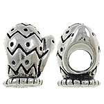 Zinc Alloy European Beads, Turtle, antique silver color plated, without troll & large hole, nickel, lead & cadmium free, 10x12x9mm, Hole:Approx 4.5mm, 10PCs/Bag, Sold by Bag