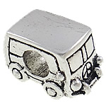 Zinc Alloy European Beads, Bus, antique silver color plated, without troll & large hole, nickel, lead & cadmium free, 9x15x8mm, Hole:Approx 5mm, 10PCs/Bag, Sold by Bag