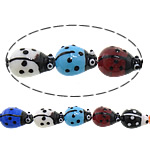 Animal Lampwork Beads, Ladybug, mixed colors, 15x19x10mm, Hole:Approx 2mm, Length:Approx 11 Inch, 10Strands/Lot, Sold By Lot