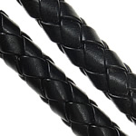 Leather Cord PU woven black 8mm Length:100 m