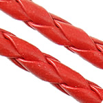 Leather Cord PU woven red 4mm Length:100 m