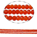 Rondelle Crystal Beads, imitation CRYSTALLIZED™ element crystal, ruby, 4x3mm, Hole:Approx 1mm, Length:Approx 19 Inch, 10Strands/Bag, Approx 150PCs/Strand, Sold By Bag