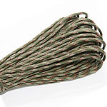 Paracord, 330 Paracord, 4mm, 5Strands/Lot, 31m/Strand, Sold By Lot