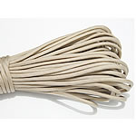 Paracord, 330 Paracord, beige, 4mm, 5Strands/Lot, 31m/Strand, Sold By Lot