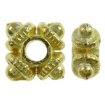 Zinc Alloy Spacer Beads, Squaredelle, gold color plated, nickel, lead & cadmium free, 9.5x2.5mm, Hole:Approx 2mm, Approx 3330PCs/KG, Sold By KG