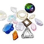 Zawieszki kryształowe, Kryształ, mieszane, 12-30mm, otwór:około 1.5-17mm, 100komputery/torba, sprzedane przez torba