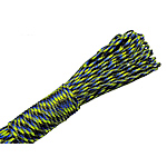 Paracord 330 Paracord black and blue fluorescent green 4mm 5Strands/Lot 31m/Strand