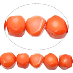 Natural Coral Beads Nuggets reddish orange 9-13x10-12x9-12mm Hole:Approx 1mm Length:Approx 17 Inch 10Strands/Lot
