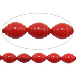 Natural Coral Beads Oval red 6x9mm Hole:Approx 1mm Length:Approx 16 Inch 10Strands/Lot Approx 45PCs/Strand