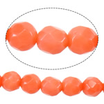 Natural Coral Beads Round faceted reddish orange 4mm Hole:Approx 1mm Length:Approx 16 Inch 10Strands/Lot Approx 101PCs/Strand
