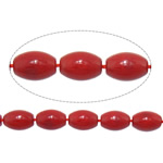 Natural Coral Beads Oval red 7x10mm Hole:Approx 1mm Length:Approx 16.7 Inch 10Strands/Lot Approx 42PCs/Strand
