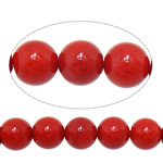Natural Coral Beads Round red 8mm Hole:Approx 1mm Length:Approx 15.7 Inch 10Strands/Lot Approx 50PCs/Strand