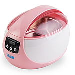 Plastic Digital Ultrasonic Cleaner, pink, 208x161x145mm, 150x130x50mm, Sold By PC