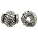 Zinc Alloy Jewelry Beads Drum antique silver color plated nickel lead   cadmium free 8x7mm Hole:Approx 2.5mm Approx 830PCs/KG