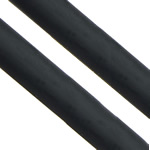 Rubber Cord, black, 6.50mm, Hole:Approx 4mm, Length:108 m, Sold By Lot