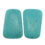 Turquoise Pendant, Trapezium, turquoise blue, 40x60x10mm, Hole:Approx 2mm, Approx 26PCs/KG, Sold By KG