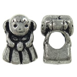 Zinc Alloy European Beads, Girl, antique silver color plated, without troll, nickel, lead & cadmium free, 9.50x13x9mm, Hole:Approx 5.5mm, 10PCs/Bag, Sold by Bag