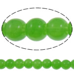 Fashion Glass Beads, Round, solid color, apple green, 6mm, Hole:Approx 1.5mm, Length:Approx 31.5 Inch, 10Strands/Bag, Sold By Bag