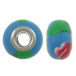 European Polymer Clay Jewelry Beads , Rondelle, brass double core without troll, 14x9mm, Hole:Approx 5mm, 100PCs/Bag, Sold by Bag