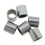 Stainless Steel Jewelry Beads, 316 Stainless Steel, Tube, original color, 2x2mm, Hole:Approx 1.5mm, 2000PCs/Bag, Sold By Bag