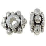 Zinc Alloy Jewelry Spacer, antique silver color plated, nickel, lead & cadmium free, 8x9x5mm, Hole:Approx 2mm, approx 1250PCs/KG, Sold by KG