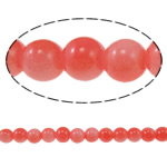 Fashion Glass Beads, Round, red, 8mm, Hole:Approx 1.5mm, Length:31.4 Inch, 10Strands/Bag, Sold By Bag
