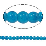 Crackle Glass Beads, Round, Peacock Blue, 6mm, Hole:Approx 1mm, Length:Approx 31.4 Inch, 10Strands/Bag, Sold By Bag