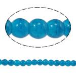 الخرز فرقعة الزجاج, زجاج, جولة, الطاووس الأزرق, 6mm, حفرة:تقريبا 1mm, طول:تقريبا 31.4 بوصة, 10جدائل/حقيبة, تباع بواسطة حقيبة
