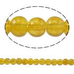 الخرز فرقعة الزجاج, زجاج, جولة, أصفر, 4mm, حفرة:تقريبا 1mm, طول:تقريبا 31.4 بوصة, 10جدائل/حقيبة, تباع بواسطة حقيبة