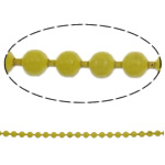 Iron Ball Chain, electrophoresis, yellow, nickel, lead & cadmium free, 1.5mm, Length:Approx 100 m
