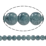 Crackle Glass Beads, Round, blue black, 10mm, Hole:Approx 1.5mm, Length:Approx 31.4 Inch, 10Strands/Bag, Sold By Bag