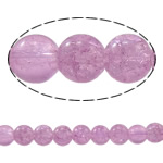 Crackle Glass Beads, Round, light purple, 8mm, Hole:Approx 1mm, Length:Approx 30.7 Inch, 10Strands/Bag, Sold By Bag