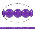 Crackle Glass Beads, Round, purple, 6mm, Hole:Approx 1.5mm, Length:Approx 32 Inch, 10Strands/Bag, Sold By Bag