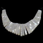 Natural White Shell Pendants, 4x11-30x4mm, Hole:Approx 1mm, 2Sets/Lot, Sold By Lot