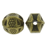Zinc Alloy Jewelry Beads, Drum, antique bronze color plated, nickel, lead & cadmium free, 6.5x7mm, Hole:Approx 1.5mm, approx 900PCs/KG, Sold by KG