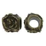 Zinc Alloy European Beads, Drum, antique bronze color plated, without troll, nickel, lead & cadmium free, 10x11x9mm, Hole:Approx 5mm, 200PCs/Bag, Sold by Bag