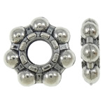 Zinc Alloy Spacer Beads Flower antique silver color plated nickel lead   cadmium free 12x3mm Hole:Approx 4mm Approx 760PCs/KG
