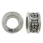 Zinc Alloy European Beads, Donut, antique silver color plated, without troll, nickel, lead & cadmium free, 8x4.5mm, Hole:Approx 4.5mm, approx 1425PCs/KG, Sold by KG