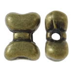 Zinc Alloy Jewelry Beads, Bowknot, antique bronze color plated, nickel, lead & cadmium free, 9.50x7x4mm, Hole:Approx 2mm, approx 830PCs/KG, Sold by KG