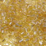 2 Cut Glass Seed Beads, 2x2mm, Hole:Approx 1mm, approx 30000PCs/Bag, Sold by Bag