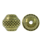 Zinc Alloy Jewelry Beads, Drum, antique bronze color plated, nickel, lead & cadmium free, 11x10.5mm, Hole:Approx 2mm, approx 250PCs/KG, Sold by KG